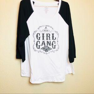 Torrid || Girl Gang Long Sleeve Baseball Tee